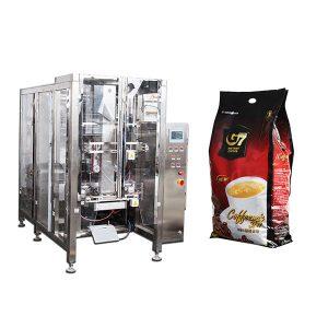 kahve dörtlü torba formu doldurma mühür paketleme makinesi