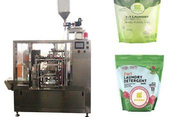 çamaşır sıvısı döner premade kese paketleme makinesi